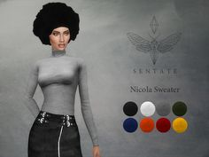 Sims 4 CC's - The Best: Nicola Sweater by Sentate