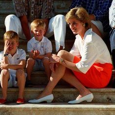 .Diana with her boys.