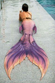Mermaid tail design by FinFolk Siren Mermaid, Sea Siren, Mermaid Tale, Tattoo Mermaid, Real Mermaids, Mermaids And Mermen, Mermaids Exist, Fantasy Mermaids, Mermaid Under The Sea