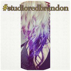 #blonde purple #purple ombré Studio Red Hair and Nail Salon Brandon, FL