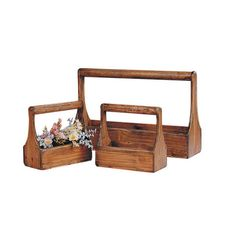 Rustic Wooden Planter Baskets or in barnwood