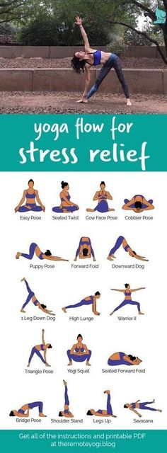 Yoga Flow For Stress Relief This printable PDF is the perfect thing to have hand. Yoga Flow For Stress Relief This printable PDF is the perfect thing to have handy when you are stressed and needing a little breather. Yoga Beginners, Beginner Yoga, Yoga For Beginners Anxiety, Yoga Stress, Yoga For Stress Relief, Yoga To Relieve Stress, Stress Relief Exercises, Natural Stress Relief, Stress Free