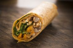 Mexican sweet potato and bean wrap