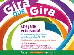 #GiraQueGira ►  El #Cine se acerca a tu Escuela!