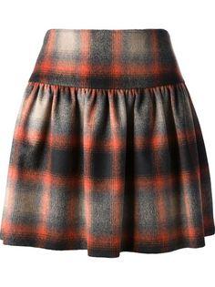 RED VALENTINO Tartan Skirt