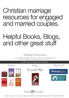 Marriage Resources for engaged and married couples. #engaged #wedding #marriage #christian