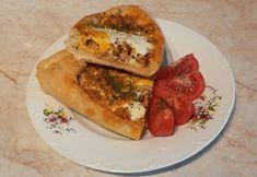 Török pizza (pide) Spanakopita, Bagel, Bread, Ethnic Recipes, Food, Brot, Essen, Baking, Meals