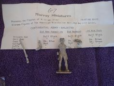 Murray Miniatures #G7 54mm Continental Army Enlisted White Metal Military Figure #Murray