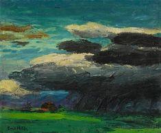 Emil Nolde - Landschaft (Mit Regenwolke), 1925,... on MutualArt.com