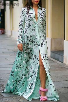 Sexy Floral Print Long Sleeves Maxi Dress. maxi dress for wedding guest,style maxi dress,maxi skirt,maxi dress spring,maxi dress outfit casual,long maxi dress,maxi dress outfit #maxidresselegant #maxidress #maxidressoutfit #maxidressesgorgeous #streetstyle #dresses #fashion #streetvova Long Sleeve Maxi, Long Sleeve Shirt Dress, Maxi Dress With Sleeves, Dress Long, Long Dresses, Wrap Dresses, Sleeve Dresses, Dress Formal, Evening Dresses