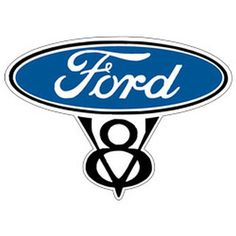 Small Ford V8 Crest T Shirt Mens T Shirt by OldSaltSailorTees