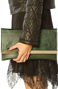 *Accessories Boutique The Green Serpent Clutch : MissKL.com - Cutting Edge Women's Fashion, Accessories and Shoes.