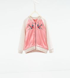 Super cute jacket for E! Image 2 of Embroidered bomber jacket from Zara