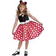 Little Girls' Minnie Mouse Costume Small (4-6) -- Click on the image for additional details.