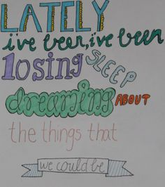 Counting Stars by One Republic Lyric Drawing by DrawingsbyKatieB, $5.00
