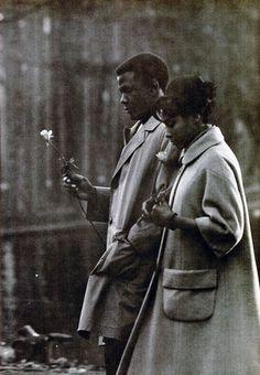 """Diahann Carroll & Sidney Poitier from """"Paris Blue,"""" 1961"""