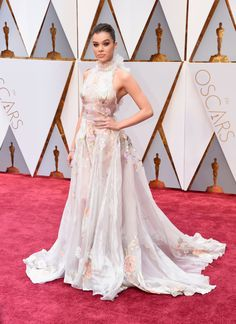 The 20-year-old actress gave off major princess vibes at the 89th Annual Academy Awards on Sunday.