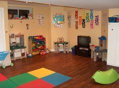 home daycare - Yahoo! Daycare Spaces, Kids Daycare, Home Daycare, Daycare Crafts, Daycare Ideas, Kid Spaces, 4 Kids, Head Start Preschool, Preschool Rooms