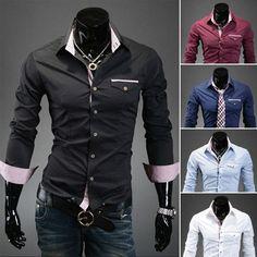 Men s Formal Two Colour Dress Shirts - Collection 2 a8578d9ff