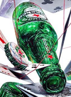 2019년 제3미술학원 연구작 01-기초디자인 제안작 (하이네캔 병맥주+트럼프카드+실) : 네이버 블로그 3d Art Drawing, Object Drawing, Cool Art Drawings, Realistic Pencil Drawings, Hyper Realistic Paintings, Color Pencil Sketch, Perspective Sketch, Cute Food Art, Industrial Design Sketch