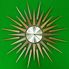 Seth Thomas sunburst clock from Home Alchemy on The Hoarde