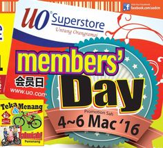 4-6 Mar 2016: UO Superstore Member's Day