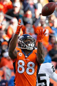Demaryius Thomas he makes every catch Denver Broncos Football, Go Broncos, Broncos Fans, Best Football Team, National Football League, Tim Tebow, Peyton Manning, Broncos Players, Terrell Davis