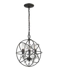 Look what I found on #zulily! Restoration Three-Light Crystal Globe #zulilyfinds