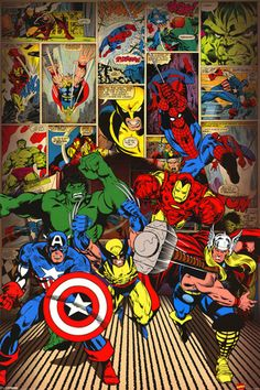 Marvel-Here Come the Heroes Poster at AllPosters.com
