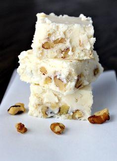 White Chocolate Butterscotch Walnut Fudge