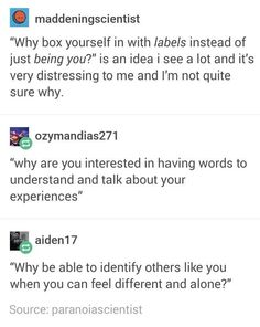 Labels can be useful