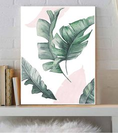 Palm Leaf Art, Palm , Leaf Print, Leaf Poster, Leaf Art, Modern Print, Printable Art, Wall Art ,Watercolor ,Palm Print ,Palm Leaf Print