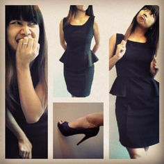 my monday Peplum Dress, Ootd, Dresses, Fashion, Gowns, Moda, La Mode, Peplum Dresses, Dress