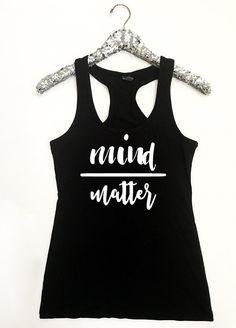 50f304a70c Mind Over Matter Women's Racerback Tank Mind Over Matter Gym Tops Women,  Mind Over Matter