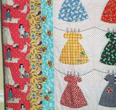Little Girl Quilt Patterns | Freda's Hive: Let's Play House Dress Quilt