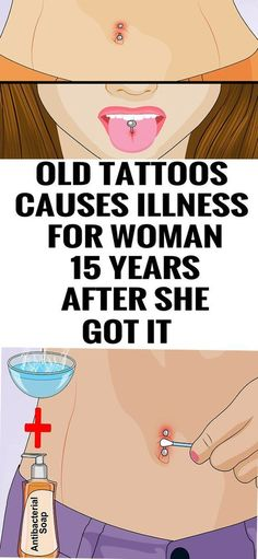 Old Tattoos Causes Illness for Woman 15 Years After She Got It!