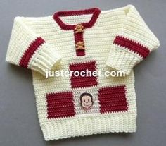 FJC90-Boys Sweater baby crochet pattern