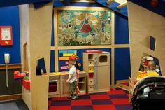 Wooden Play Spaces (kitchens, work bench, store, etc) would be GREAT for the after storytime crowd. (West Bloomfield Public Library, MI)