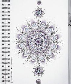 Saphiriart on Instagram - flower mandala tattoo design