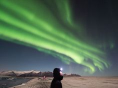Aurora Image, Jokulsarlon Glacier Lagoon -- National Geographic Photo of the Day
