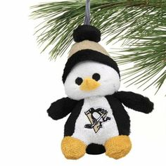Pittsburgh Penguins Plush Penguin Ornament