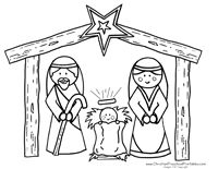 Christmas angel coloring pages christmas shepherds for Nativity animals coloring pages