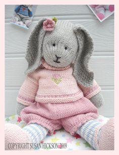 Mesmerizing Crochet an Amigurumi Rabbit Ideas. Lovely Crochet an Amigurumi Rabbit Ideas. Knitting Patterns Free, Free Knitting, Baby Knitting, Crochet Patterns, Knitting Needles, Bear Patterns, Start Knitting, Pdf Patterns, Double Knitting