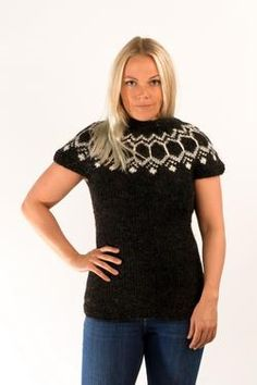 - Icelandic Wool Vest Black - Wool Sweaters - Nordic Store Icelandic Wool Sweaters  - 1