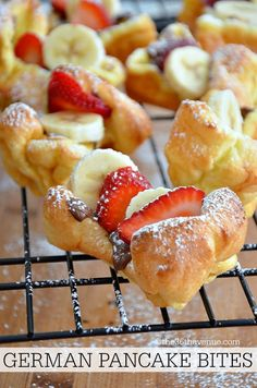 Recipes - German Pancake Bites at http://the36thavenue.com Pin it now and make them later!