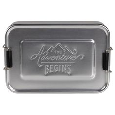 The Adventure Begins Aluminum Lunch Tin by Wild & Wolf #Lunch_Box