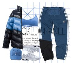 """""""Hype zone."""" by fuckedchanel ❤ liked on Polyvore featuring Rip Curl, adidas, NIKE and Raf Simons"""