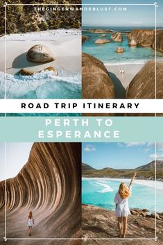 7 to 10 day road trip itinerary from Perth to Esperance, the ultimate WA drive. - 7 to 10 day road trip itinerary from Perth to Esperance, the ultimate WA drive. Admire incredible b - Australia Travel Guide, Perth Australia, Esperance Australia, West Coast Australia, East Coast Road Trip, Us Road Trip, Death Valley, Australian Road Trip, Wave Rock
