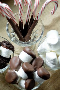 Hot Chocolate bar for the holidays!  Sounds yummy!