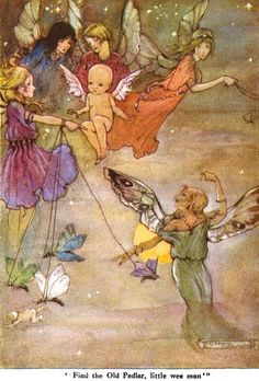 "Find the Old Pedlar, Little Wee Man; The Wee Little Cupid & the Magic Stardust from ""Little Folks - The Magazine for Boys and Girls"" - London: Cassell and Co., Ltd., 1915."